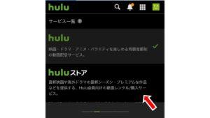 「Hulu」「Huluストア」が選べるので「Huluストア」を選択する