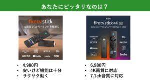 Fire TV Stick 4K Maxどっちがおすすめ