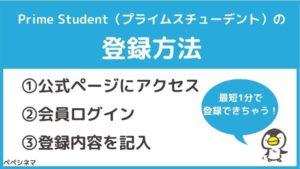 アマゾンプライムの学生限定値段「Prime Student」の登録方法