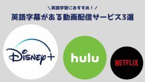 英語字幕がある動画配信サービス3選【U-NEXT以外】